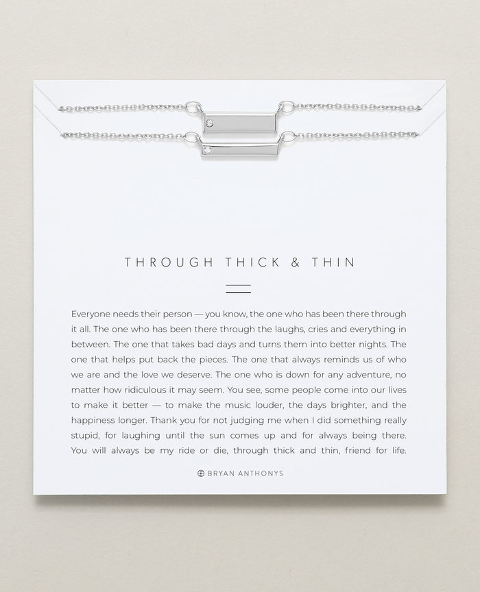Bryan Anthonys Through Thick and Thin dainty necklace friendship set silver