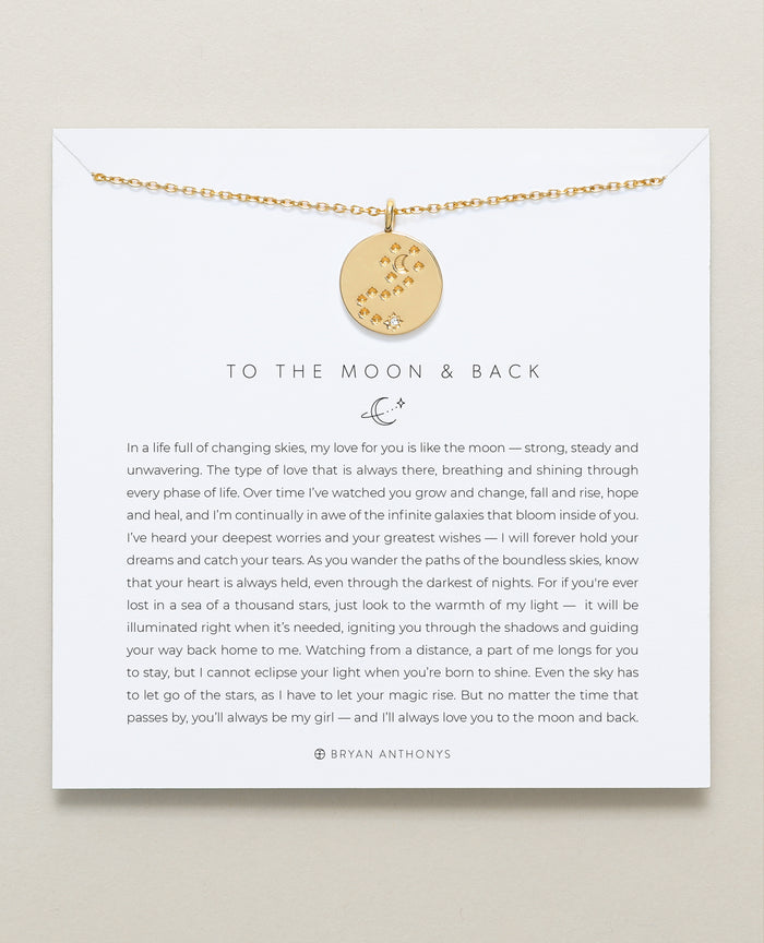 bryan anthonys father daughter to the moon and back necklace 14k gold