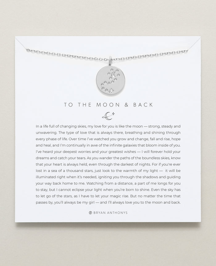 bryan anthonys father daughter to the moon and back necklace silver