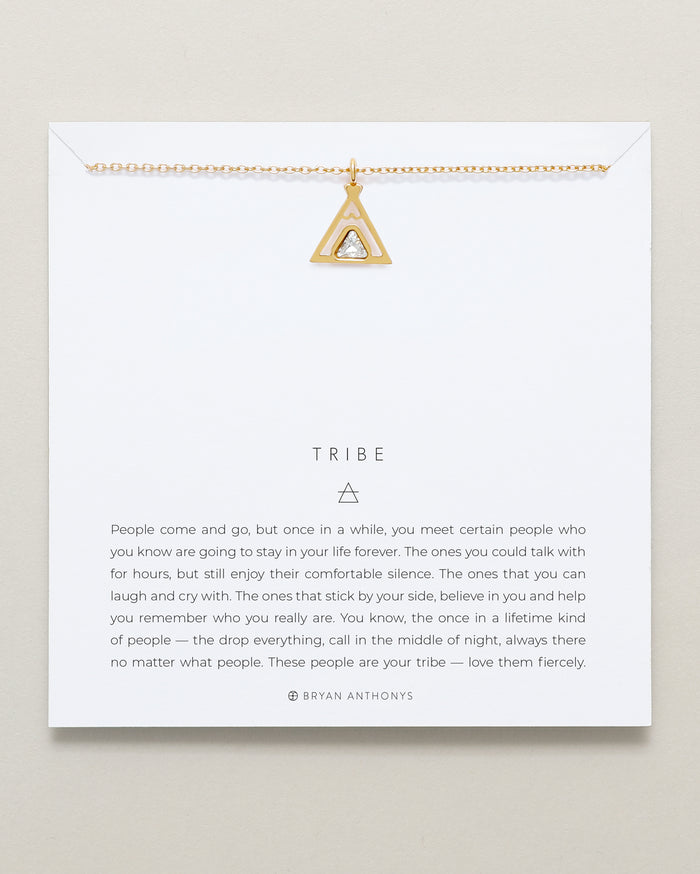 Bryan Anthonys tribe teepee necklace dainty 14k gold