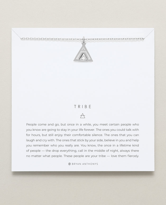 Bryan Anthonys tribe teepee necklace dainty silver