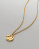 Bryan Anthonys Us Against The World Gold Necklace with crystal macro