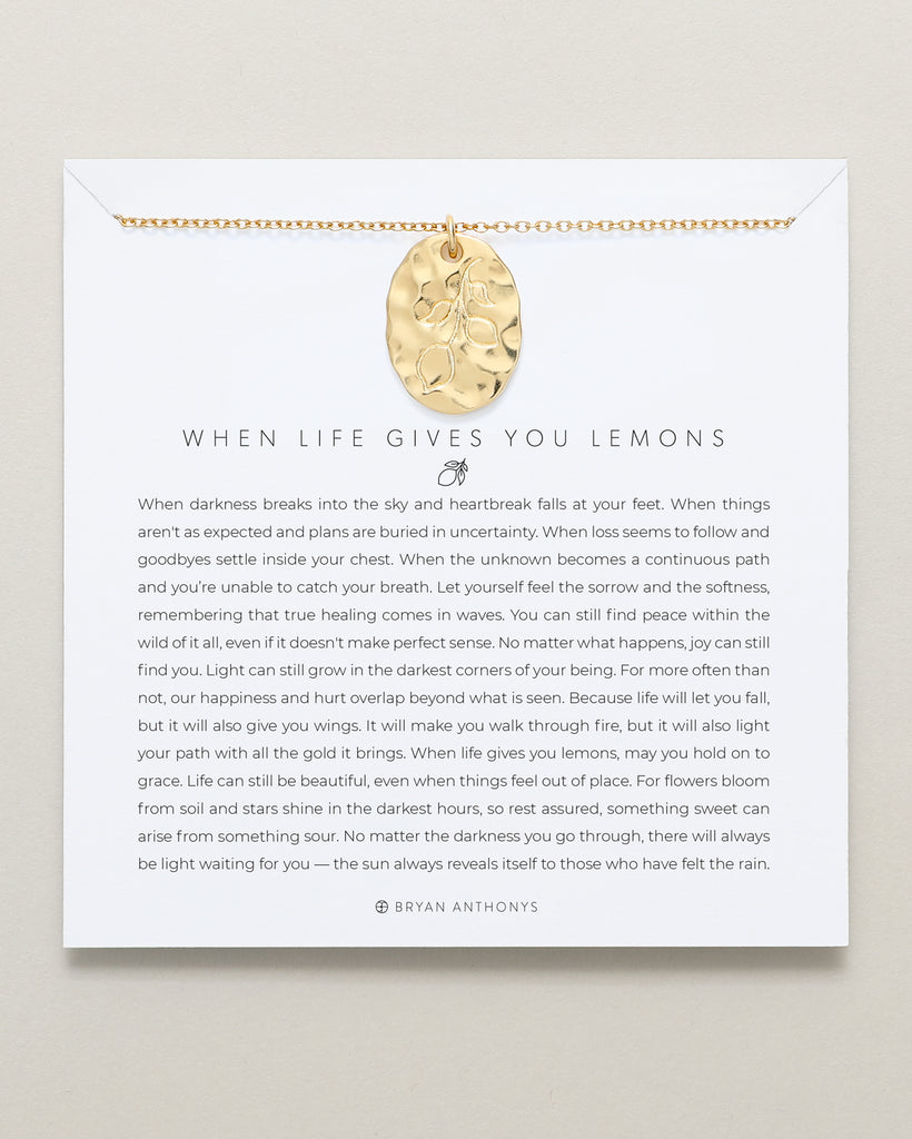 Bryan Anthonys When Life Gives You Lemons Necklace 14k Gold