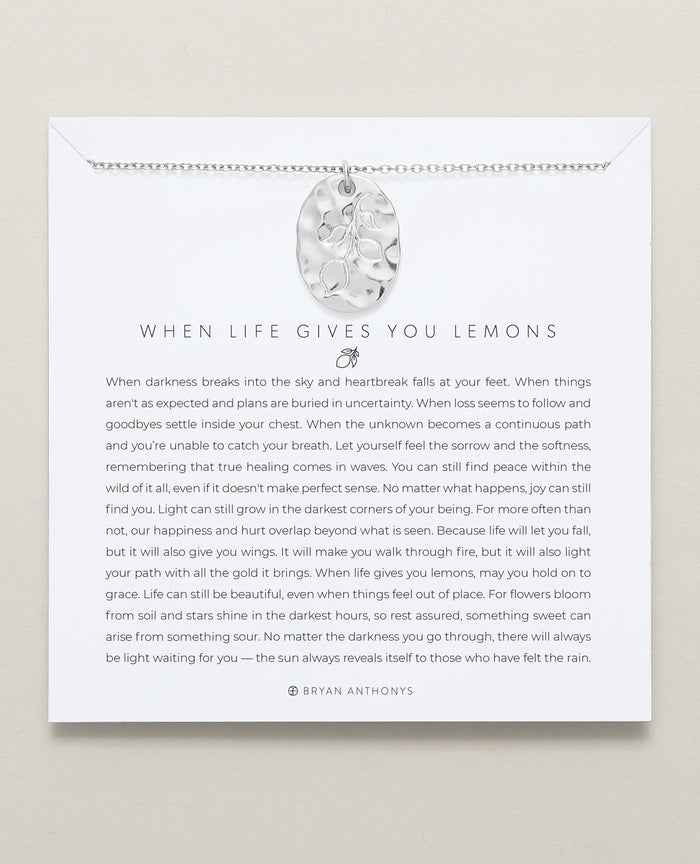 Bryan Anthonys When Life Gives You Lemons Necklace silver