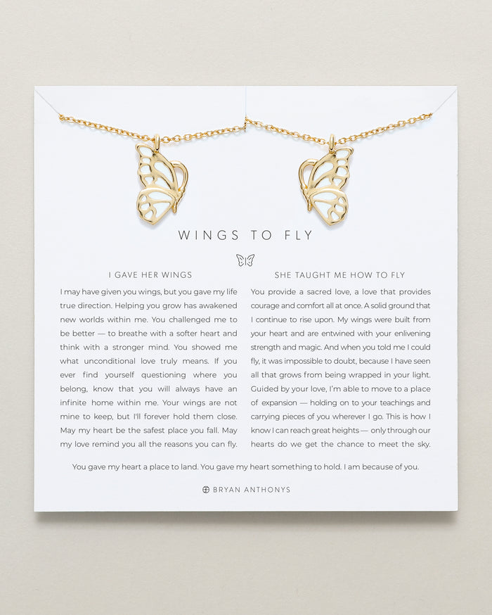 bryan anthonys mother daughter butterfly necklace set 14k gold