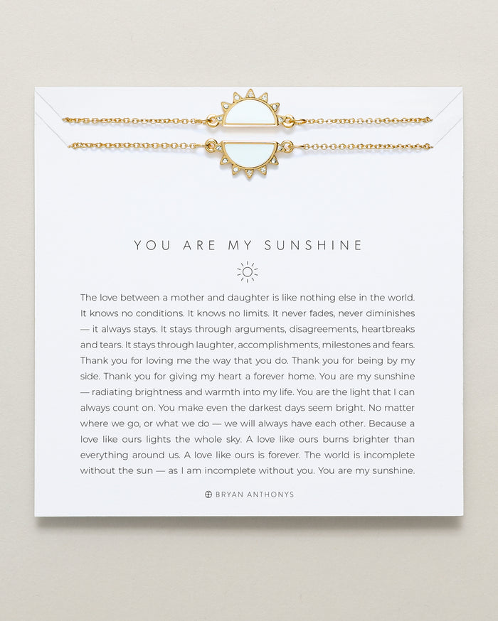 Bryan Anthonys you are my sunshine mother daughter necklace set 14k gold