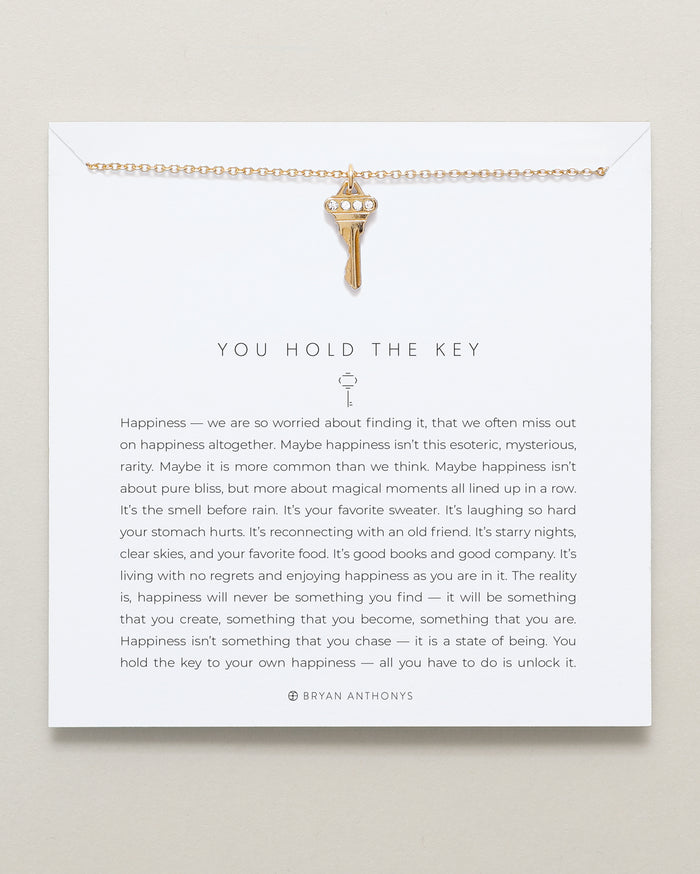 Bryan Anthonys dainty you hold the key necklace 14k gold