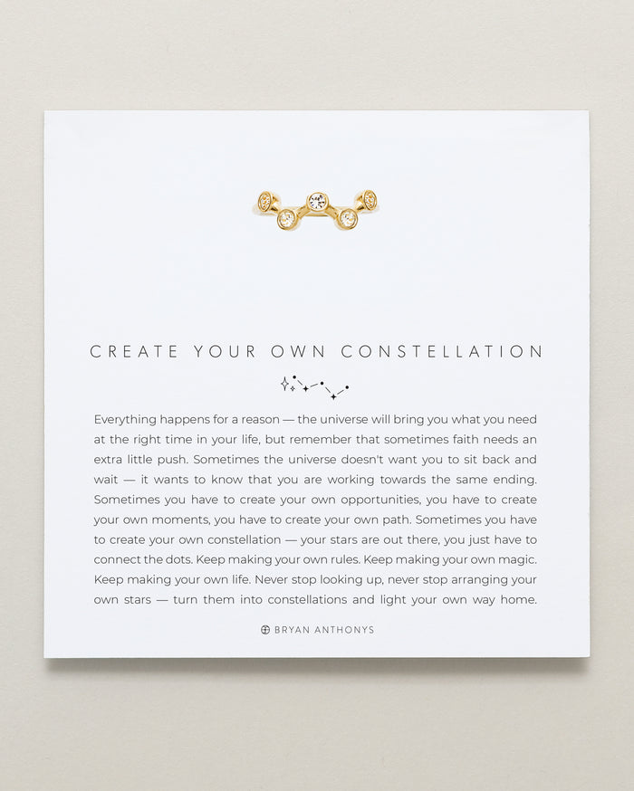 Bryan Anthonys Create Your Own Constellation Gold Ring With Crystals On Card