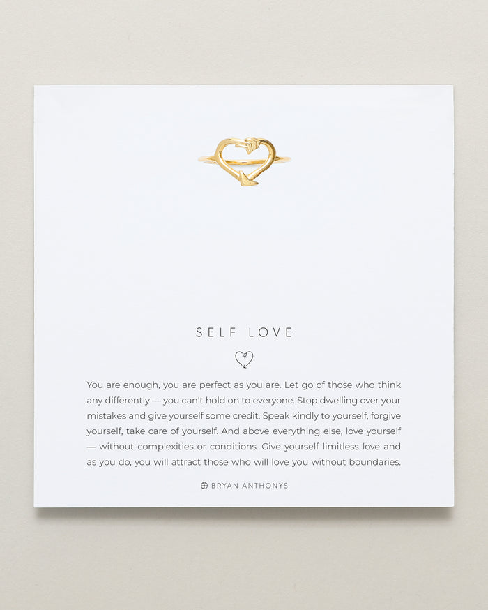 Bryan Anthonys Self Love Gold Ring On Card