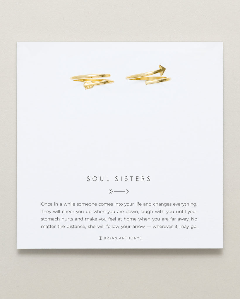bryan anthonys dainty soul sisters best friend arrow rings 14k gold