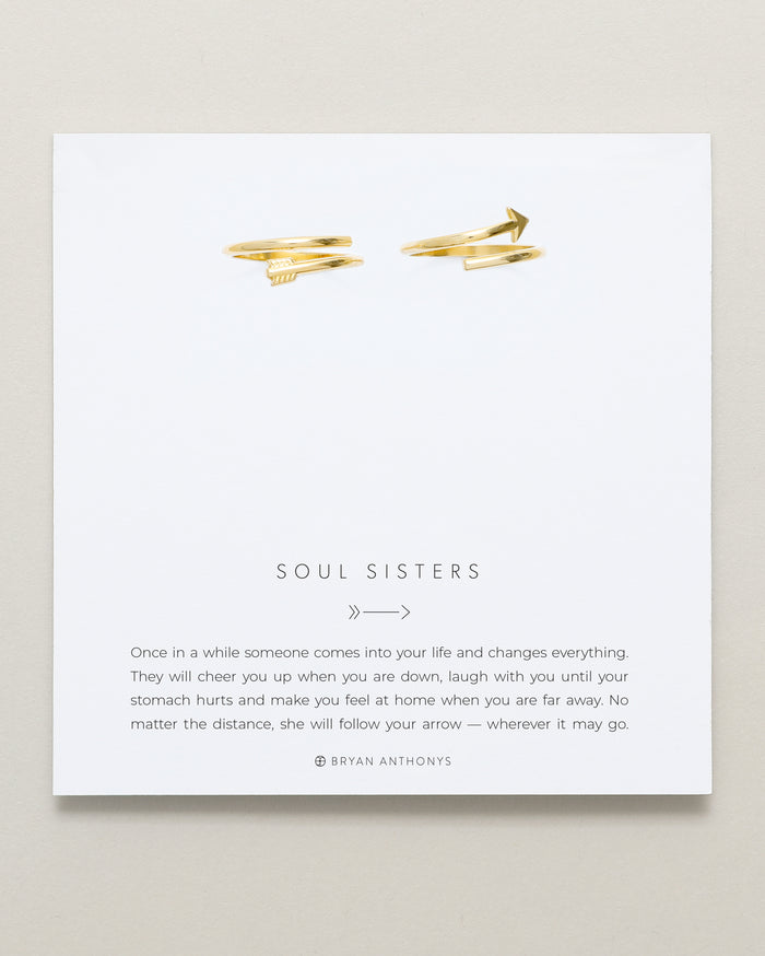 Bryan Anthonys Soul Sisters Gold Arrow Ring On Card