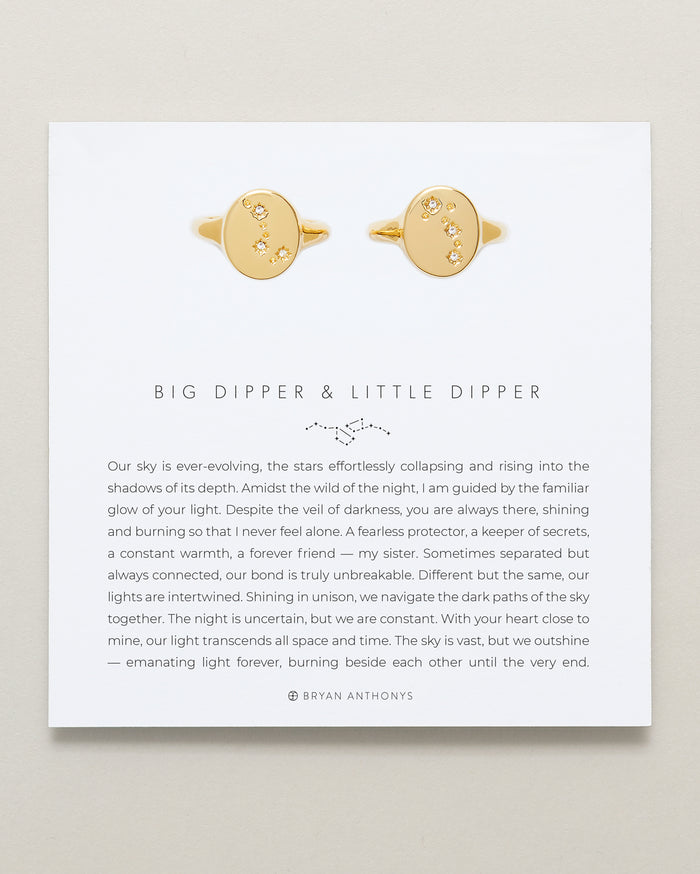 Bryan Anthonys Big Dipper & Little Dipper Signet Rings Set 14k Gold