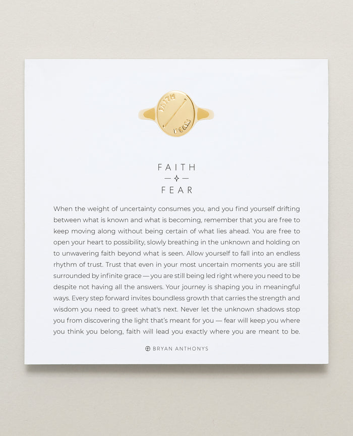 Bryan Anthonys Faith Over Fear Signet Ring 14k Gold
