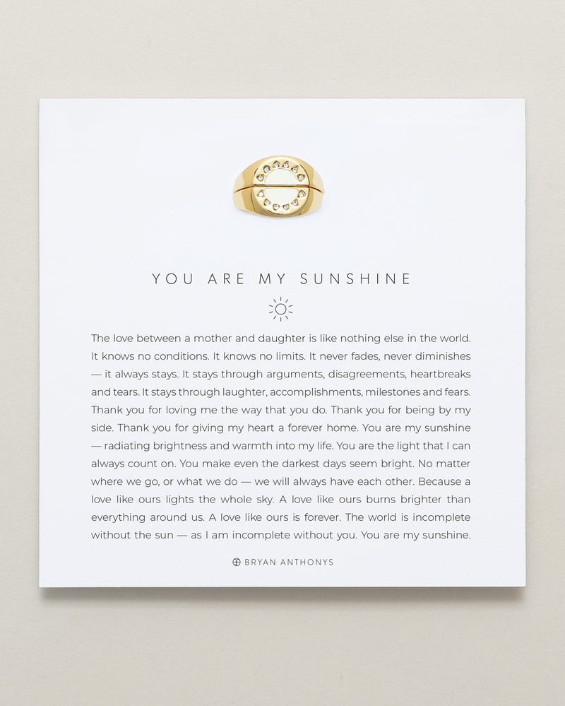 You Are My Sunshine Ring Set