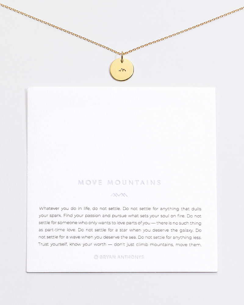 Move Mountains Symbol Stacker with Chain