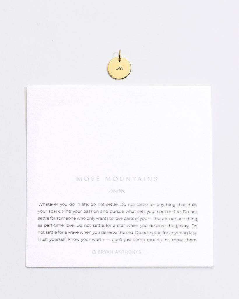 Bryan Anthonys Move Mountains Symbol Stacker Charm On Card Gold Vermeil