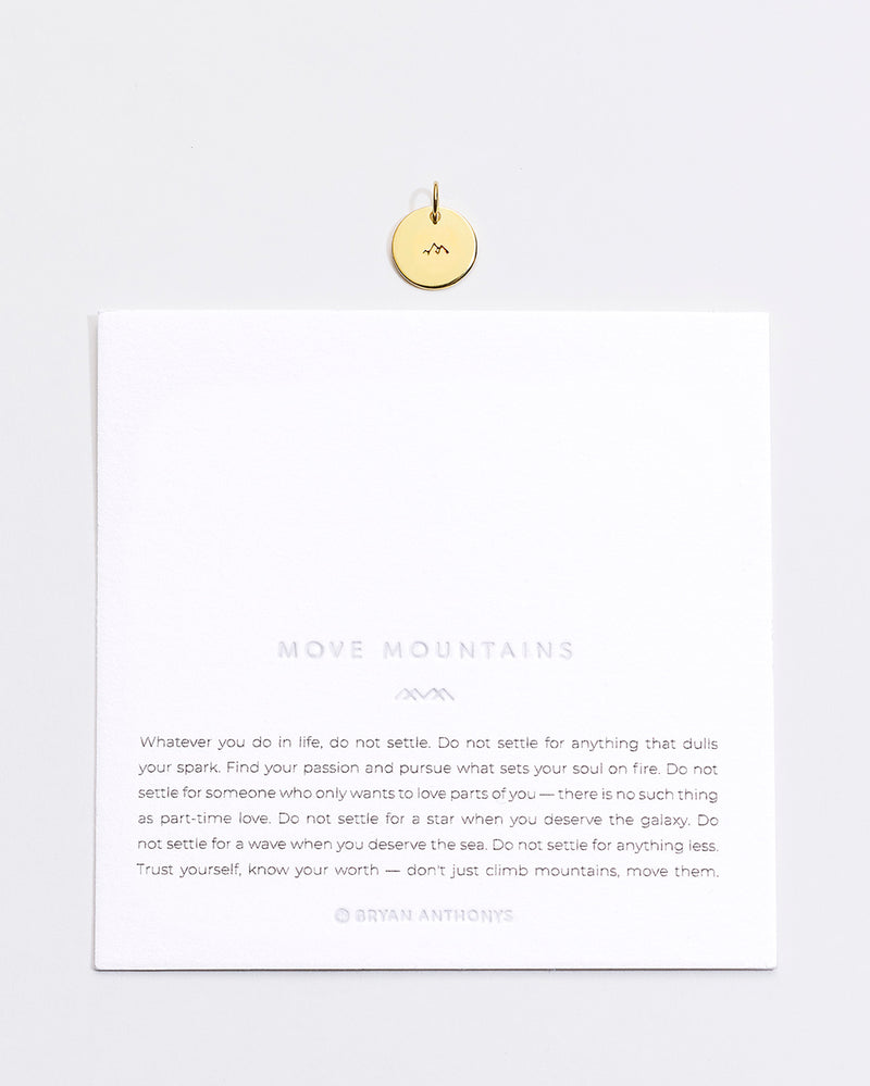 Move Mountains Symbol Stacker Disc