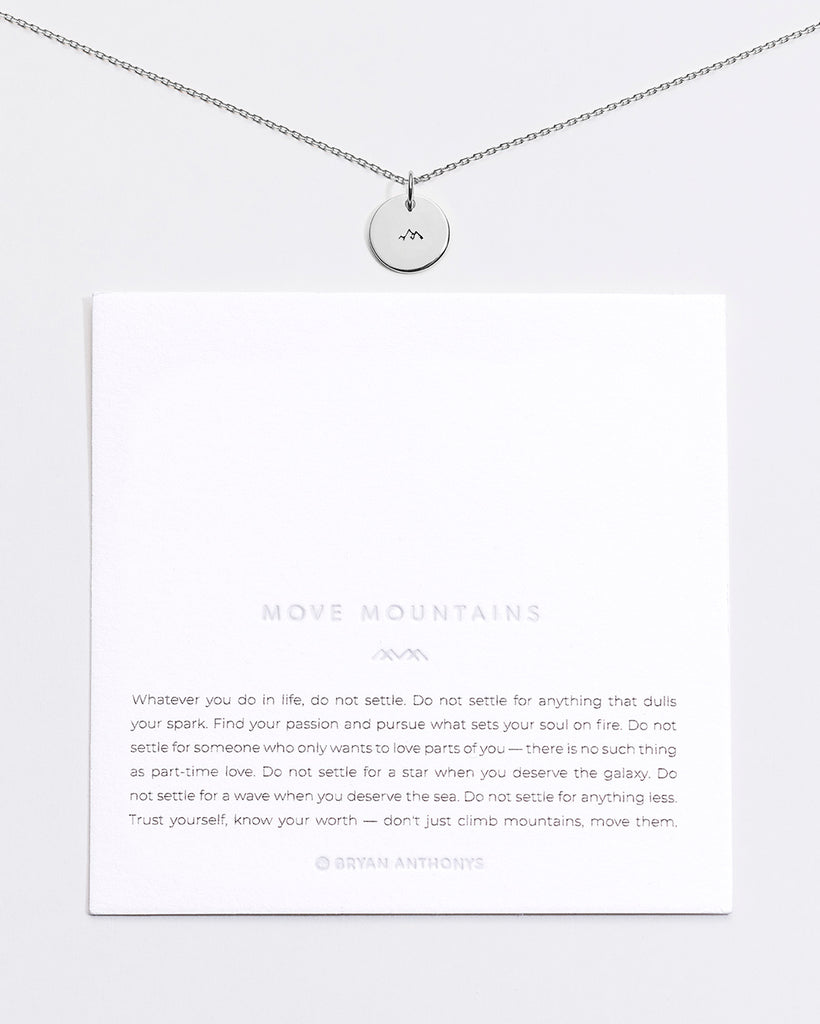 Bryan Anthonys Move Mountains Symbol Stacker with. Necklace Chain On Card Sterling Silver