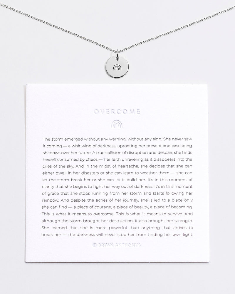 Bryan Anthonys Overcome Rainbow Symbol Stacker with Necklace Chain On Card Sterling Silver