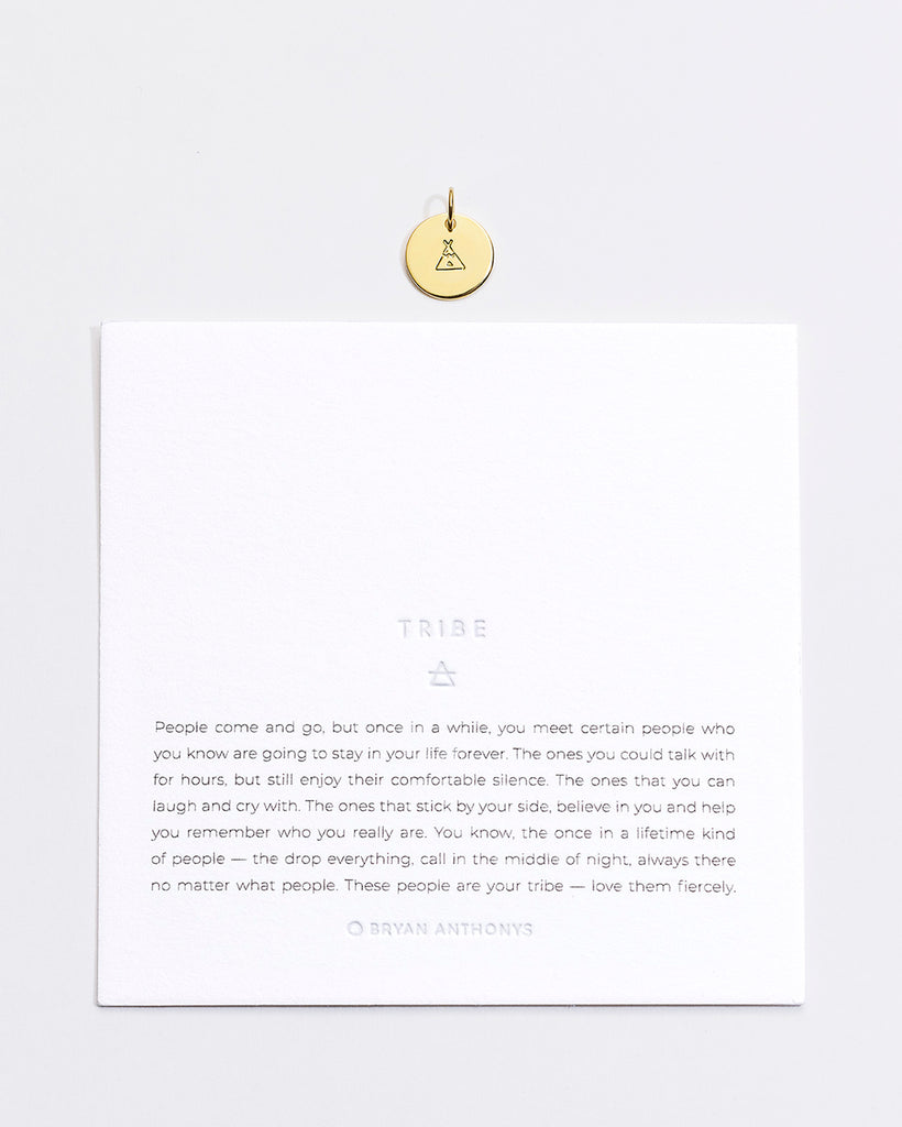 Bryan Anthonys Tribe Symbol Stacker Charm On Card Gold Vermeil