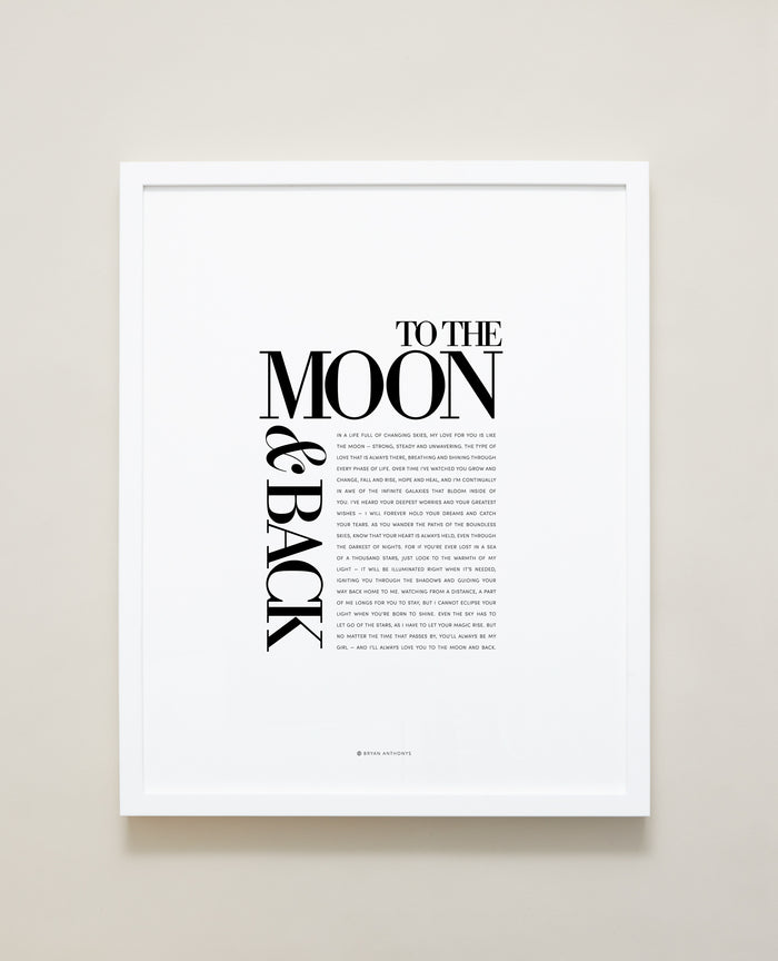 Bryan Anthonys Home Decor Framed Print To The Moon & Back Frame White 16x20