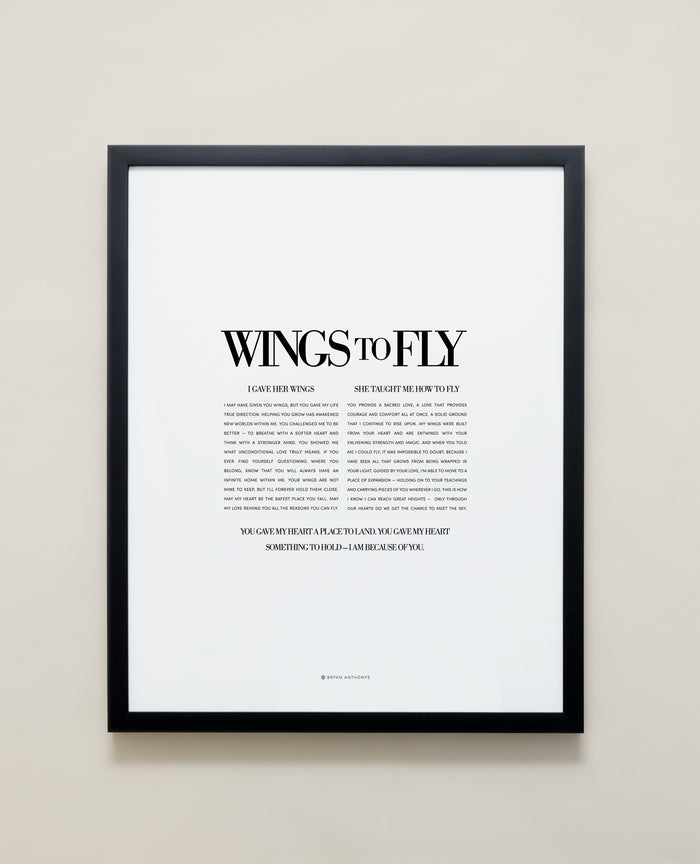 Bryan Anthonys Home Decor Framed Print Wings To Fly Black Frame 16x20