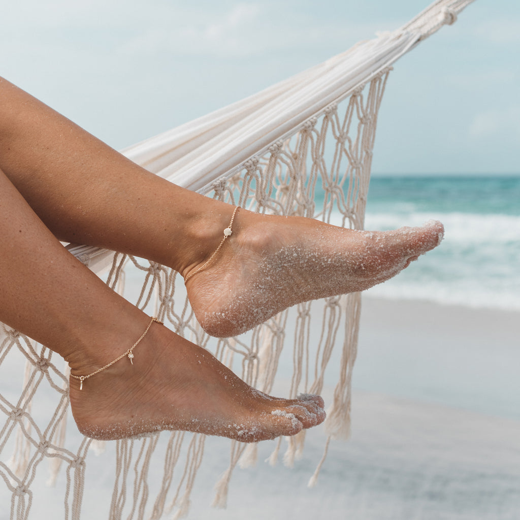 Bryan Anthonys seashell anklet be your own kind of beautiful Lindsay Bell hammock