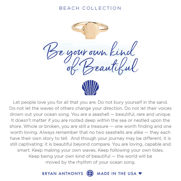 Bryan Anthonys dainty seashell ring be your own kind of beautiful 14k gold