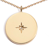 Close-up of Love Compass in gold vermeil