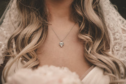Bryan Anthonys dainty to have and to hold bridal necklace close