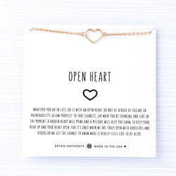 bryan anthonys dainty open heart choker gold on card