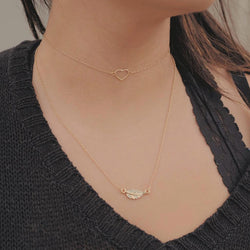 bryan anthonys layered necklaces open heart choker 14k gold modeled