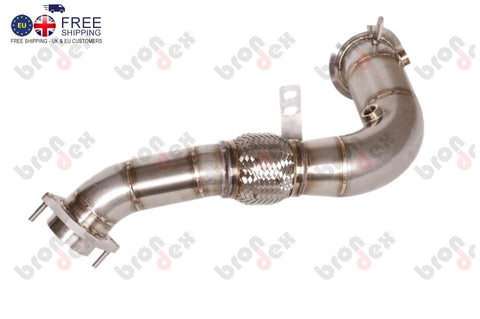 BMW X6 E71 M decat downpipes V8 BI-TURBO 2010-