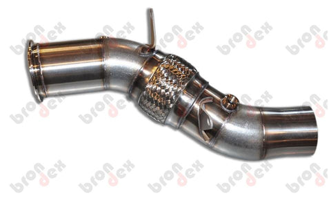 bmw 640i decat downpipe brondex exhaust