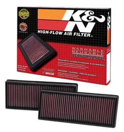 MERCEDES BENZ GLE63 AMG 5.5L V8 K&N 33-2474 Air Filter