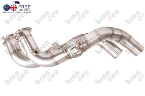 bmw 550i decat downpipes brondex exhaust