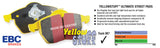 Mercedes C250 C300 C400 GLC250 GLC350  W205 C205 X253 C253 EBC BRAKE PADS YELLOW STUFF DP42210R FRONT