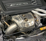 Mercedes GLA45 AMG downpipe with 200 cell sportcat
