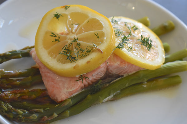 Foil Pack Grilled Salmon with Lemony Asparagus