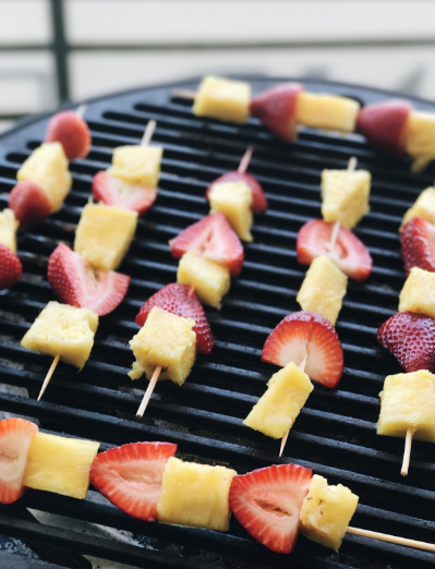Grilled Pineapple and Strawberry Skewers