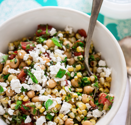 Coming in Hot: Grilled Corn & Chickpea Salad