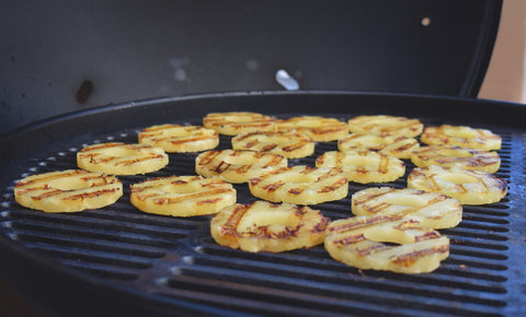 Grilled pineapple on a Fuego grill