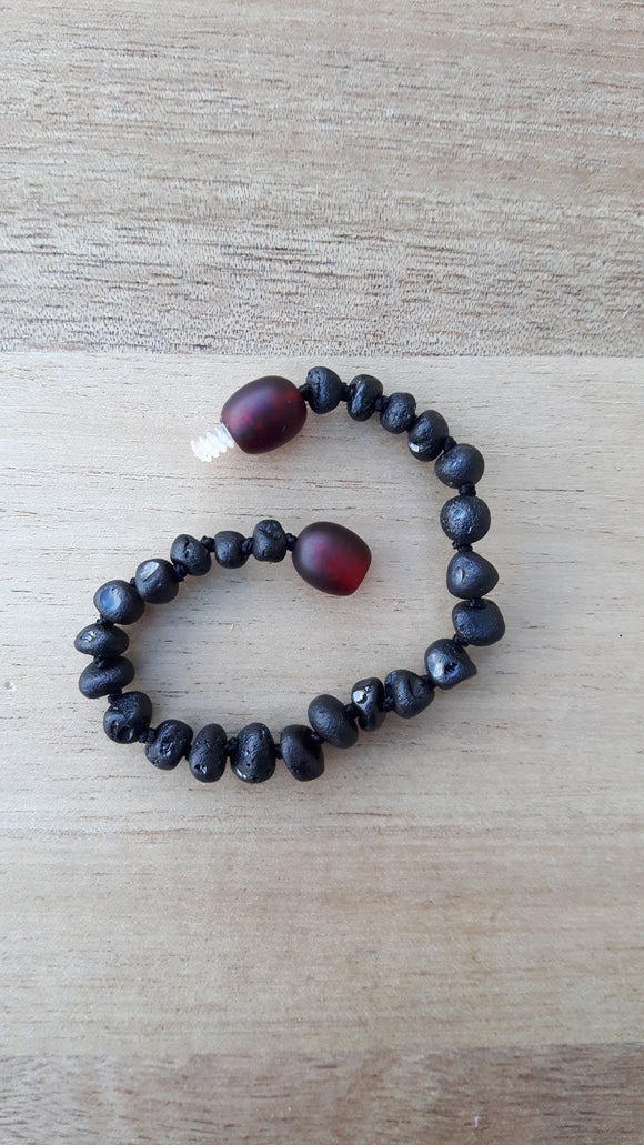Raw Cherry Amber Anklet