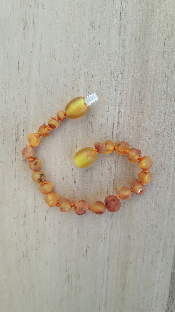 Raw Honey Amber Anklet
