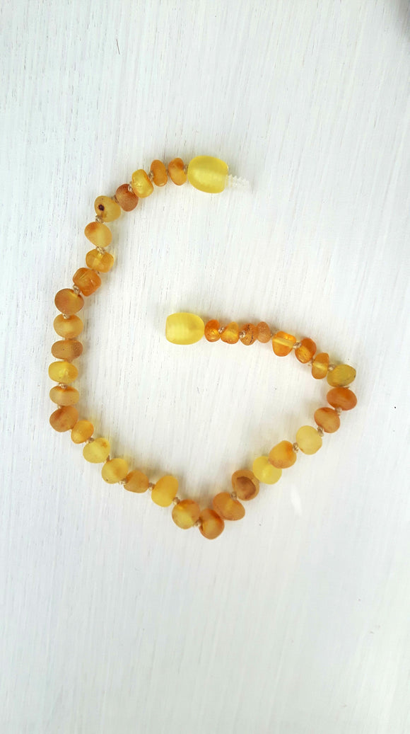 Raw Lemon Amber Anklet