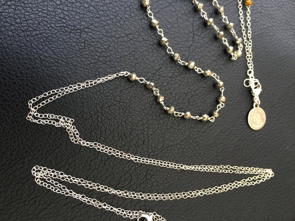 Body Chain Jewelry with Pyrite gemstones/ Sterling Silver fun body jewelry/ Delicate Body Chain
