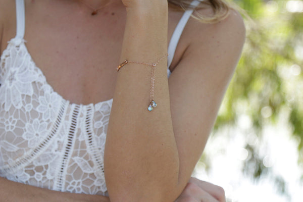 Rose Gold ID bracelet - Anci Decor Jewelry