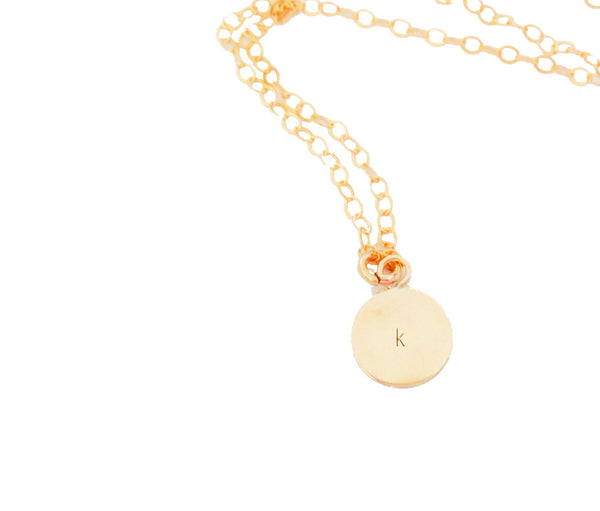 Tiny Initial Gold Necklace - Anci Decor Jewelry