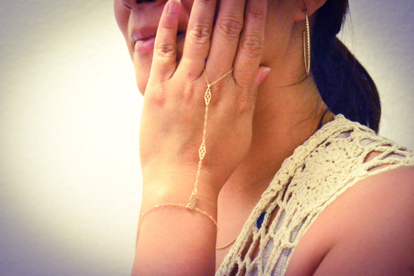 Gold Filled Dainty Ring Bracelet - Anci Decor Jewelry