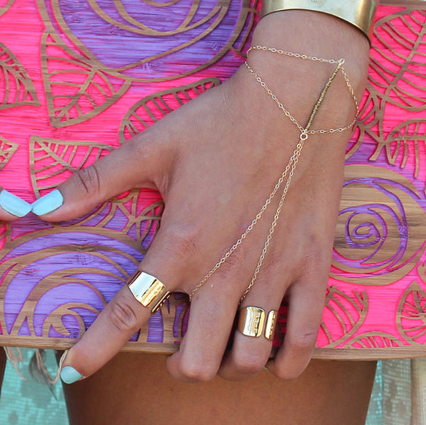 Gold Ring and Bracelet Combo - Anci Decor Jewelry